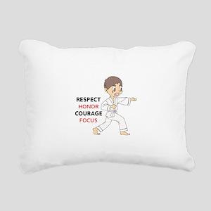 COURAGE HONOR RESPECT Rectangular Canvas Pillow