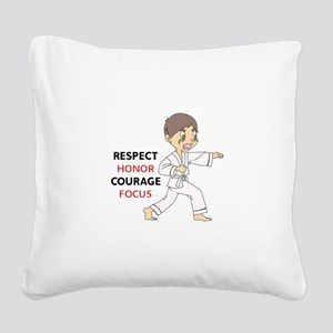 COURAGE HONOR RESPECT Square Canvas Pillow