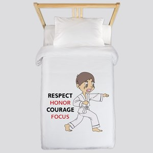 COURAGE HONOR RESPECT Twin Duvet