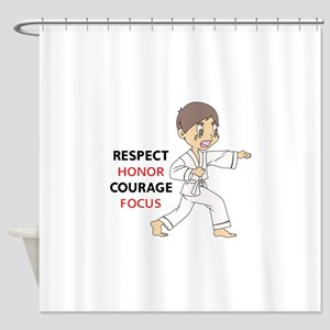 COURAGE HONOR RESPECT Shower Curtain