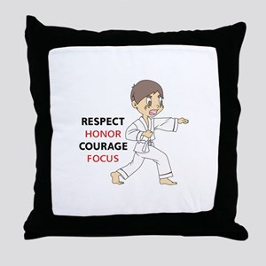 COURAGE HONOR RESPECT Throw Pillow