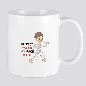 COURAGE HONOR RESPECT Mugs