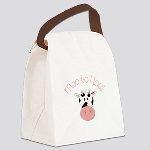 Moo To You! Canvas Lunch Bag