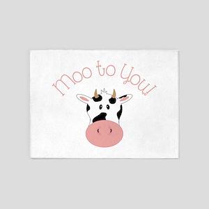 Moo To You! 5'x7'Area Rug