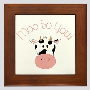 Moo To You! Framed Tile