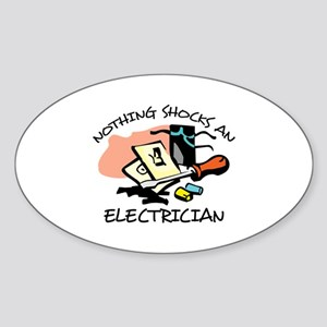 NOTHING SHOCKS ELECTRICIAN Sticker