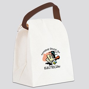 NOTHING SHOCKS ELECTRICIAN Canvas Lunch Bag