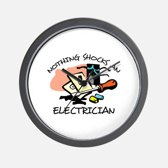 NOTHING SHOCKS ELECTRICIAN Wall Clock