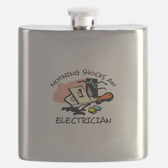 NOTHING SHOCKS ELECTRICIAN Flask