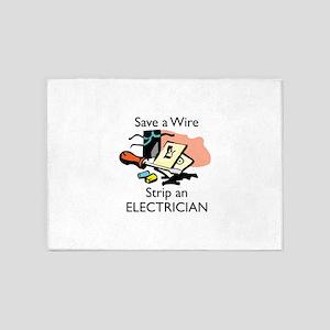 STRIP AN ELECTRICIAN 5'x7'Area Rug