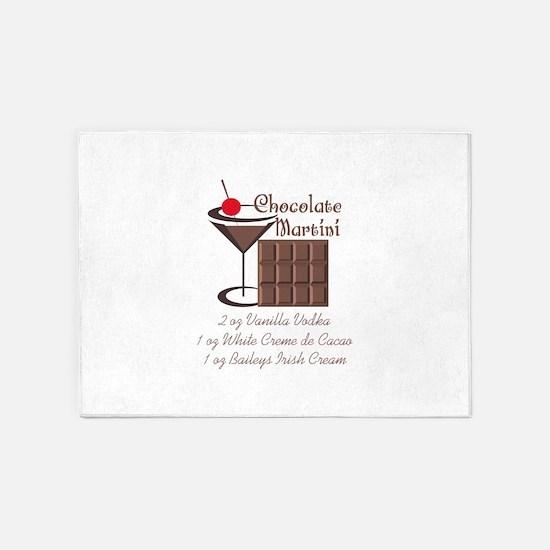 CHOCOLATE MARTINI 5'x7'Area Rug