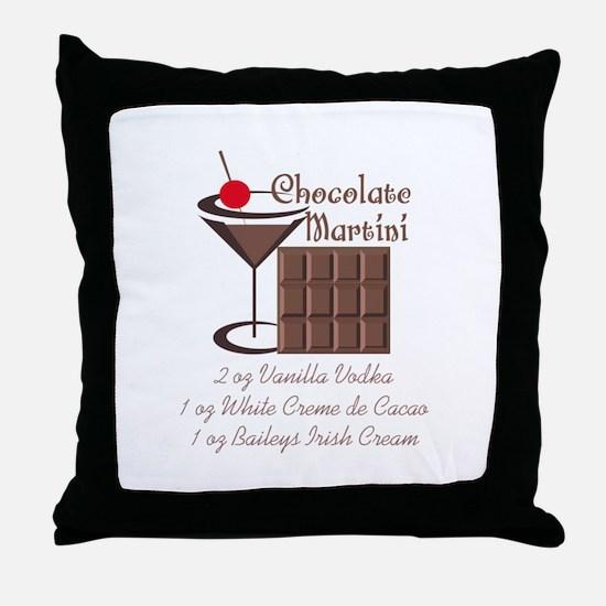 CHOCOLATE MARTINI Throw Pillow