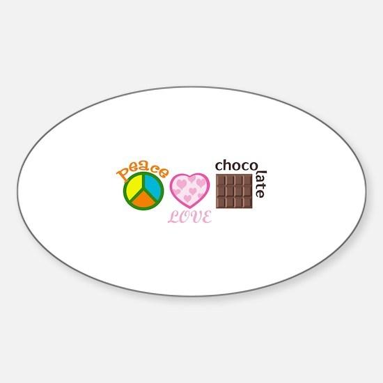 PEACE LOVE CHOCOLATE Decal