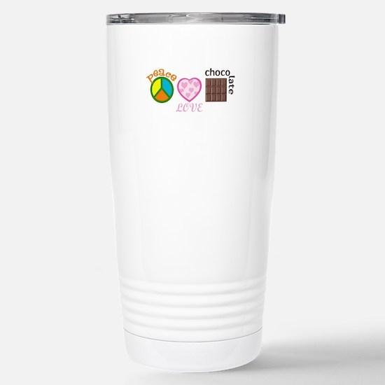 PEACE LOVE CHOCOLATE Travel Mug