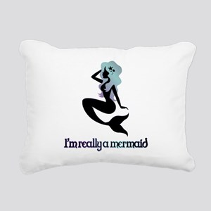 I'm really a mermaid silhouette Rectangular Canvas