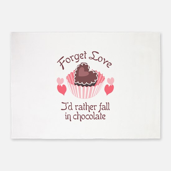 FORGET LOVE 5'x7'Area Rug