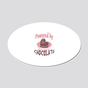 POWERED BY CHOCOLATE Wall Decal