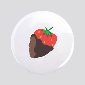 """CHOCOLATE DIPPED STRAWBERRY 3.5"""" Button"""
