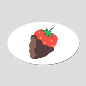 CHOCOLATE DIPPED STRAWBERRY Wall Decal