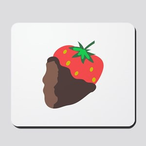CHOCOLATE DIPPED STRAWBERRY Mousepad