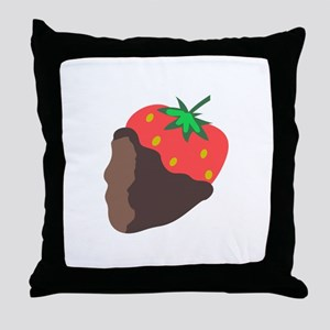 CHOCOLATE DIPPED STRAWBERRY Throw Pillow