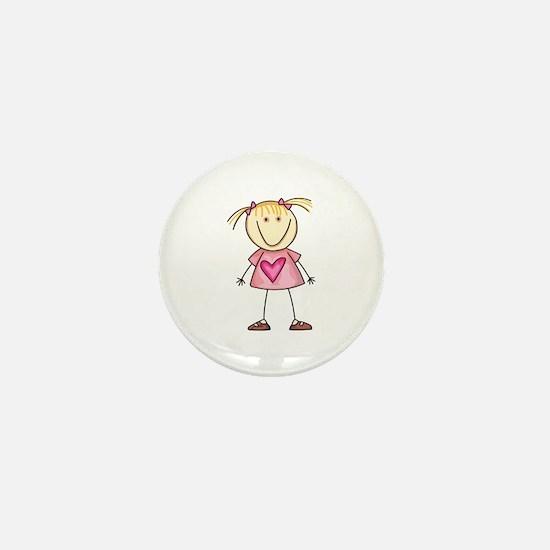 STICK GIRL Mini Button