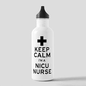Keep Calm NICU Nurse Stainless Water Bottle 1.0L