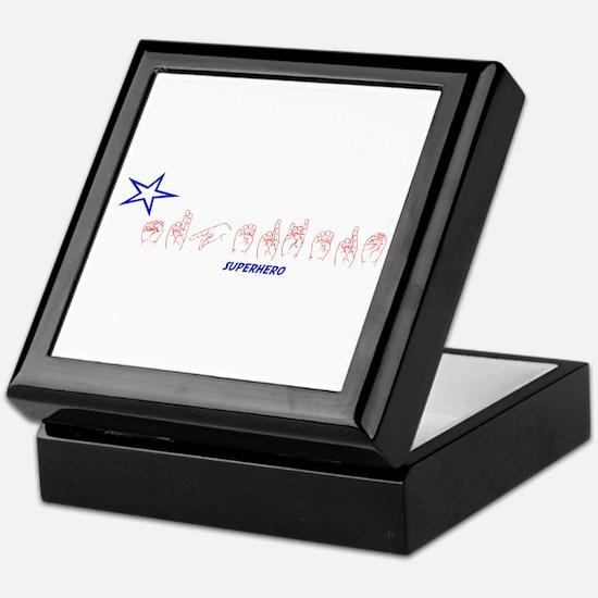 ASL Superhero Keepsake Box