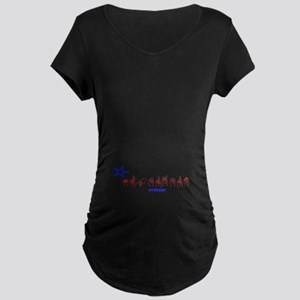 ASL Superhero Maternity Dark T-Shirt