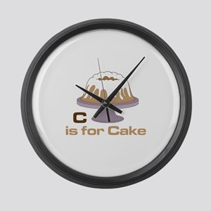 C Is For Cake Large Wall Clock