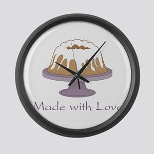 Made With Love Large Wall Clock