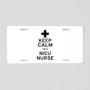 Keep Calm NICU Nurse Aluminum License Plate