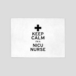 Keep Calm NICU Nurse 5'x7'Area Rug