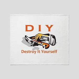 DESTROY IT YOURSELF Throw Blanket