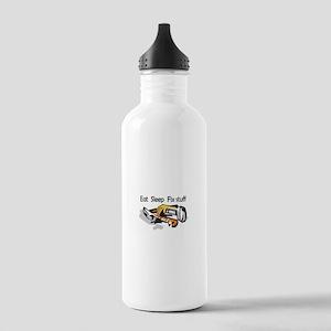 EAT SLEEP FIX STUFF Water Bottle
