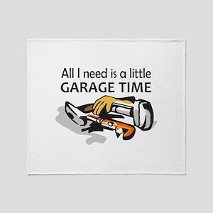 GARAGE TIME Throw Blanket