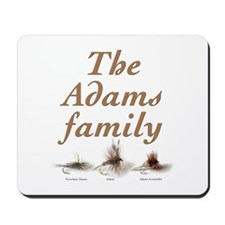 The Adams family fishing fly Mousepad