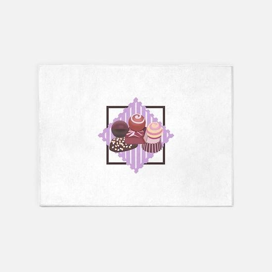 ASSORTED CHOCOLATES 5'x7'Area Rug