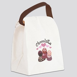 GOURMET CHOCOLATES Canvas Lunch Bag