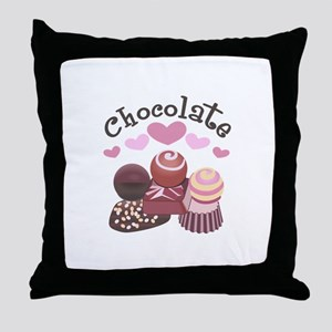 GOURMET CHOCOLATES Throw Pillow