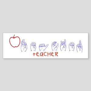 ASL Teacher Bumper Sticker