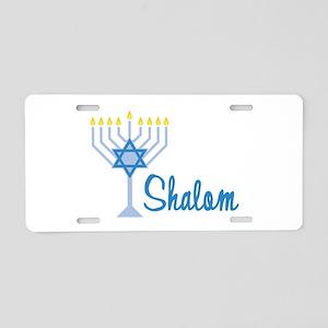 Shalom Aluminum License Plate