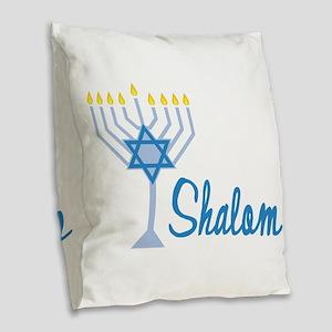 Shalom Burlap Throw Pillow