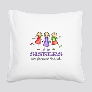 Sisters Square Canvas Pillow
