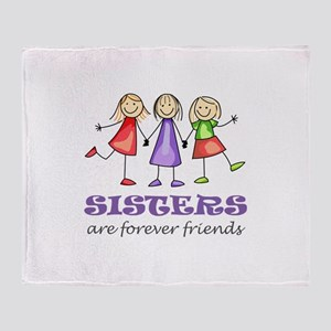 Sisters Throw Blanket