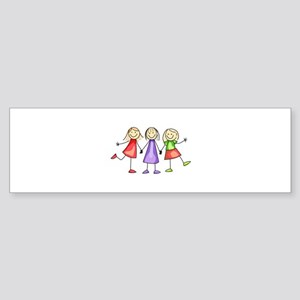 BEST FRIENDS FOREVER Bumper Sticker