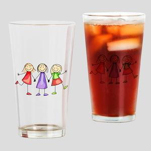 BEST FRIENDS FOREVER Drinking Glass