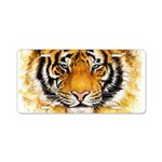 Artistic Tiger Face Aluminum License Plate