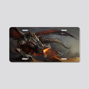 Dragon And Knight Aluminum License Plate