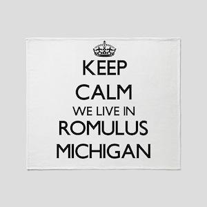 Keep calm we live in Romulus Michiga Throw Blanket